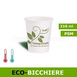 Eco-Bicchiere biodegradabile da 210ml
