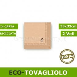 Eco-tovagliolo bio in carta riciclata 33x33cm 100 pezzi