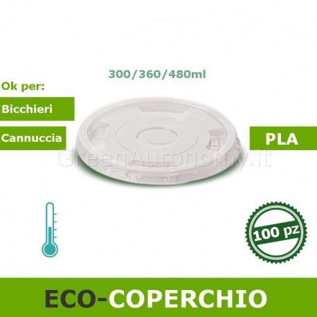eco-Coperchio bicchiere ecologico 300-360-480ml