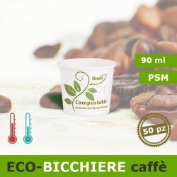 Eco-Bicchiere da caffè 90ml biodegradabile e compostabile