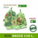 110 litri. Sacchetto biodegradabile e compostabile