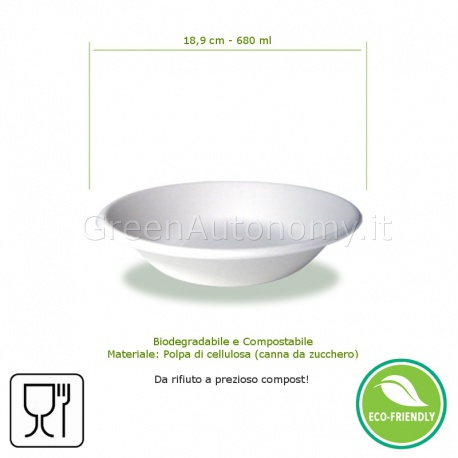 d4722361c47d ... ecoPiatto fondo 680ml ecologico, bio e compostabile in canna da  zucchero ...