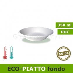eco-piatto fondo 350ml ecologico