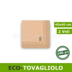 Tovaglioli 40x40 cm biodegradabili in carta riciclata