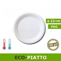 Eco-piatto piano biodegradabile e compostabile