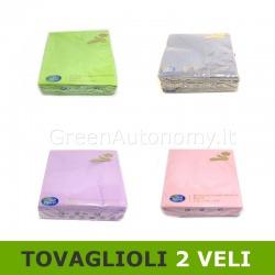 Tovaglioli di carta colorati 33x33 doppio velo