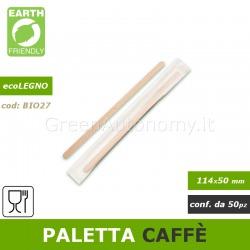 Paletta da caffè sfusa in legno biodegradabile e compostabile 50 pezzi