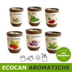 ecocan piante aromatiche con vaso biodegradabile