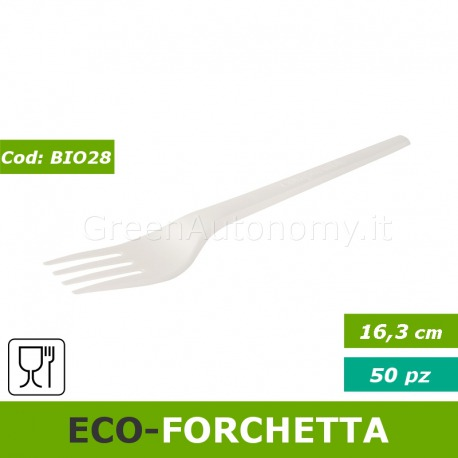 Eco-forchetta bio CPLA compostabile BIO28