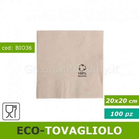 Eco-tovagliolo 20x20 biodegradabile Ecolabel