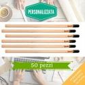 Kit eco-matita personalizzata per bomboniere matrimonio, laurea