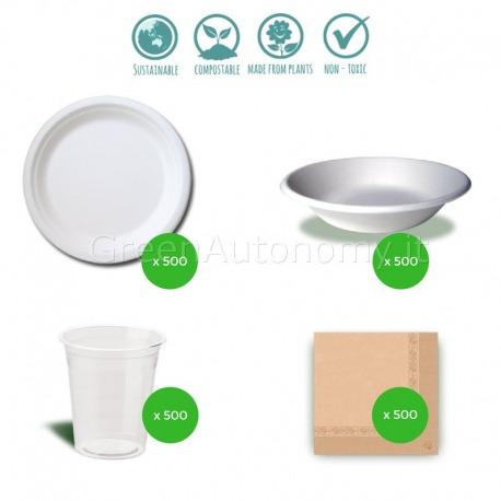Kit eco-cose compostabili per feste e sagre
