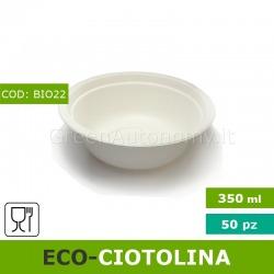 Eco-coppetta ciotola compostabile da 350ml