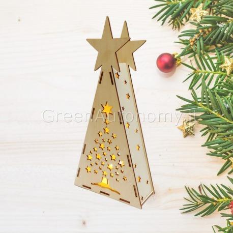 Albero Di Natale Regali.Alberi Di Natale In Legno Con Luce Led Decorativa Bianco Caldo