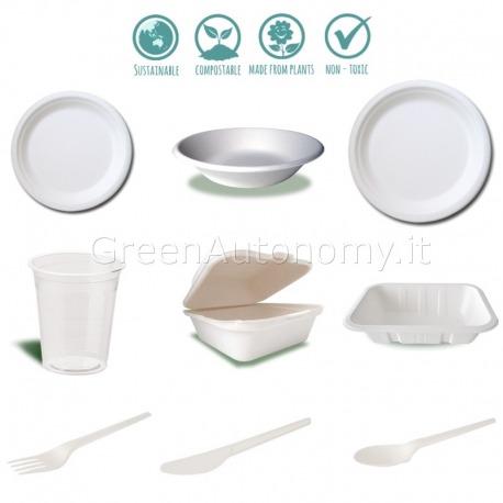 Kit campioni gratis eco-stoviglie compostabili