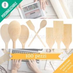 Kit 100 utensili cucina da personalizzare per bomboniere