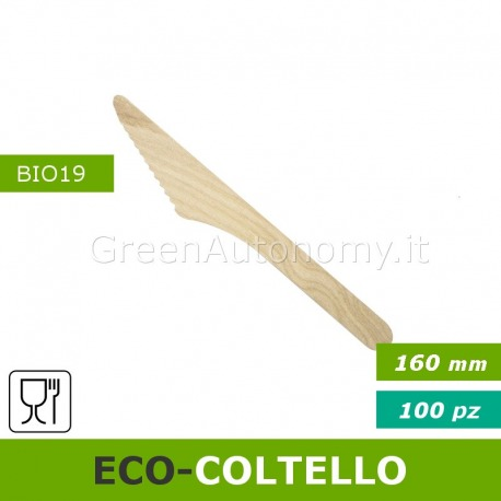 Eco-coltello in legno biodegradabile per eco-feste