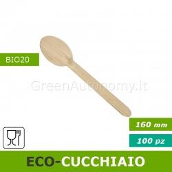 Eco-cucchiaio legno bio compostabile per feste sagre