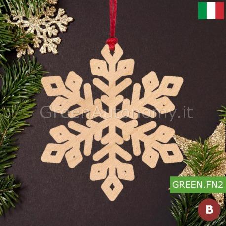 Addobbi Natale.Addobbi Natalizi Decorazione Fiocco Di Neve Made In Italy Per Albero