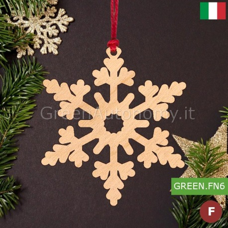Addobbi Natalizi Legno.Addobbi Natalizi Decorazione Fiocco Di Neve Made In Italy Per Albero