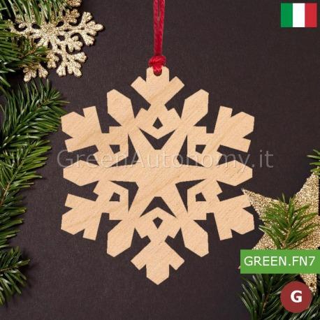 Addobbi Natalizi In Legno.Addobbi Natalizi Decorazione Fiocco Di Neve Made In Italy Per Albero