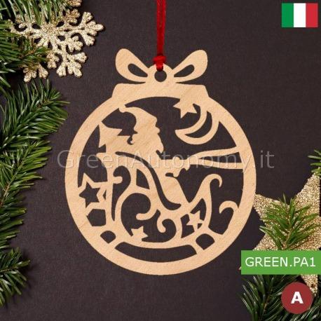 Eco-decorazione natalizia in legno babbo natale