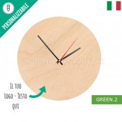 Eco-orologio di legno da parete personalizzato con foto