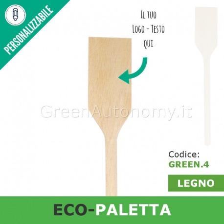 Eco-paletta di legno da personalizzare per gadget