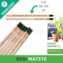 Eco-matite da piantare da personalizzare con testo