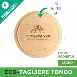 Eco-tagliere di legno tondo personalizzato per gadgets regali