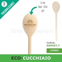 Eco-mestolo cucchiaio di legno da personalizzare per gadgets-regali