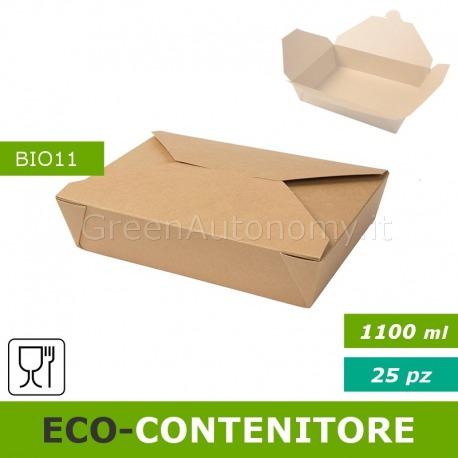 Eco-contenitore per cibo da asporto, take away