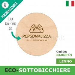 Eco-sottobicchiere da personalizzare per gadget-regalo
