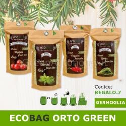 Ecobag busta ecologica con terra e semi