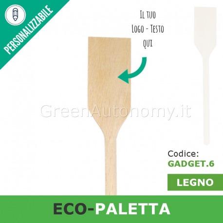 Eco-paletta di legno da personalizzare per gadget-regalo