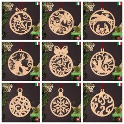 Decorazioni natalizie di legno per albero di Natale