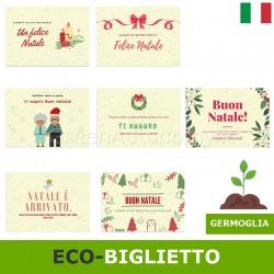Eco-biglietto auguri di natale in carta da piantare e far germogliare