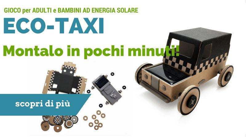 eco-taxi autogami l'originale gioco regalo solare