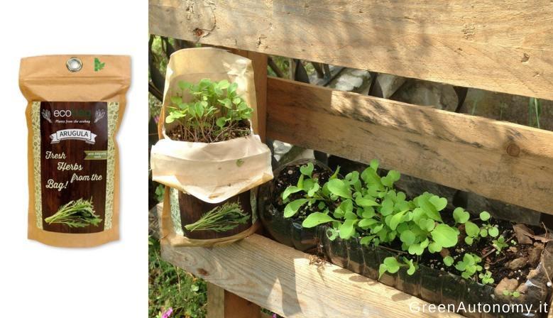 Idea regalo ecobag rucola orto in sacchetto