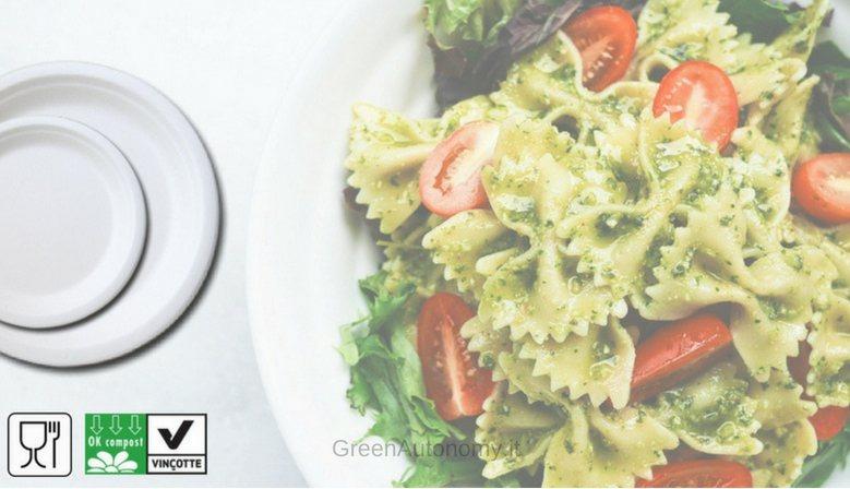 Fornitore piatti, bicchieri, posate biodegradabili per feste sagre